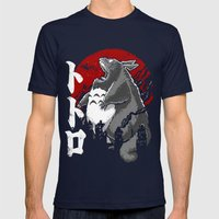 Totorozilla Mens Fitted Tee Navy SMALL