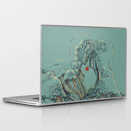 Kissing The Wave Laptop & iPad Skin
