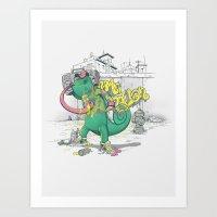 Urban Chameleon  Art Print