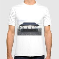 End Of The Pier Mens Fitted Tee White SMALL