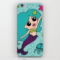 Mermaid Hair iPhone & iPod Skin