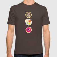 3 Food Staples Mens Fitted Tee Brown SMALL
