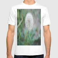 Lone Dandelion Mens Fitted Tee White SMALL