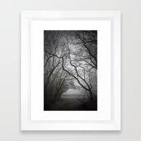 Frozen Vortex Framed Art Print