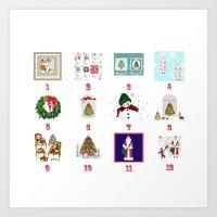 Advent Calendar Day One … Art Print