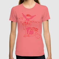 Is Love But A Ploy? Womens Fitted Tee Pomegranate SMALL