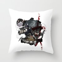 Kunoichi 3 of 4 Throw Pillow