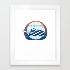 Whale Migration Framed Art Print