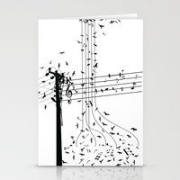 Morning song birds Stationery Cards