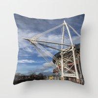 Millenium Stadium, Cardiff. Throw Pillow