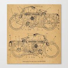 Motorcycle Diagram Canvas Print