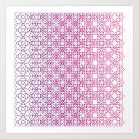Metamorph 001 | Magenta Art Print
