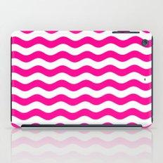 Wavy Stripes (Magenta/White) iPad Case