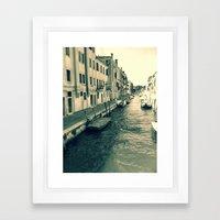Venezia, Where My Heart … Framed Art Print