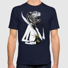 A Forest's Guardian 2 Mens Fitted Tee Navy SMALL