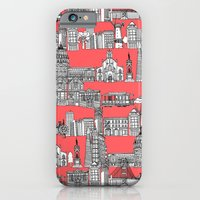 iPhone Cases featuring San Francisco coral by Sharon Turner