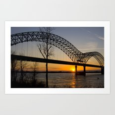 Memphis Bridge Art Print