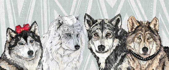 Wolf Family Portrait Canvas Print