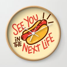 Eternal Hot Dog Wall Clock