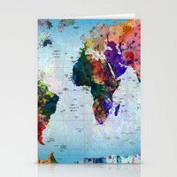map Stationery Cards featuring map by mark ashkenazi