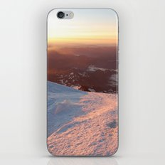 Sunrise above the earth - 14,411 feet Mt. Rainier iPhone & iPod Skin