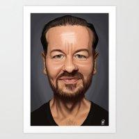 Celebrity Sunday ~ Ricky Gervais Art Print