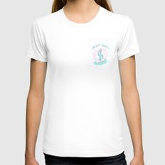 Why not right? Womens Fitted Tee White SMALL