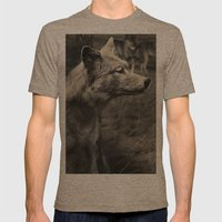 Tom Feiler Wolf Mens Fitted Tee Tri-Coffee SMALL