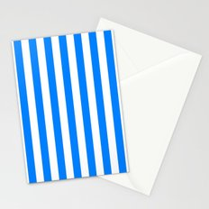 Vertical Stripes (Azure/White) Stationery Cards
