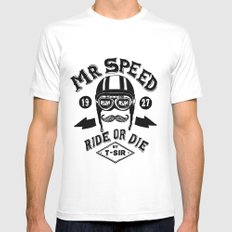 Mr. Speed Mens Fitted Tee SMALL White