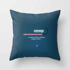 XMAS Wishes preloader Throw Pillow