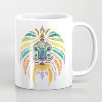 Whimsical Tribal Lion Mug