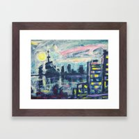 Magical City Evening Framed Art Print