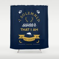 Marauder's Map Shower Curtain