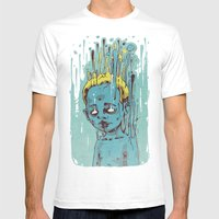 The Blue Boy with Golden Hair Mens Fitted Tee White SMALL