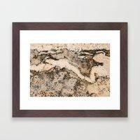 MARBLED Framed Art Print