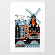 Art Print featuring Amsterdam by Koivo
