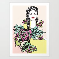 Virgo Lady | Zodiac Sign… Art Print