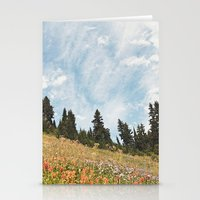 Mountain Flowers In The … Stationery Cards