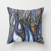 Dewdrop Meets the Rain Throw Pillow