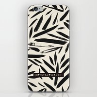 Not So Black and white leaves iPhone & iPod Skin