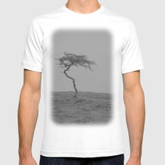 alone... White SMALL Mens Fitted Tee