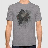 American Heritage (Dark) Mens Fitted Tee Athletic Grey SMALL