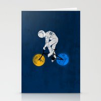 Astronaut On Bicycle Stationery Cards