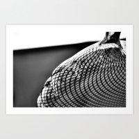 Stripe-ed Art Print
