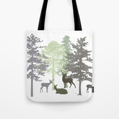 Morning Deer In The Woods No. 1 Tote Bag