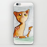 Orange Zombie Kitty iPhone & iPod Skin