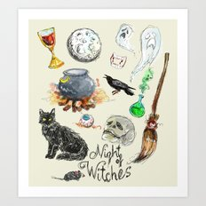 Night of the Witches Art Print