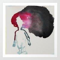 Dark black cloud is Hanging over Me Migraine Art Print