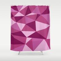 Pink Geometric Shower Curtain